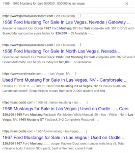 mustang search example